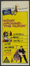 "Movie Posters:Rock and Roll, Rock Around the Clock (Columbia, 1956). Australian Daybill (13.5"" X30""). Rock and Roll...."