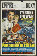 "Movie Posters:Adventure, Abandon Ship! (Columbia, 1957). Belgian (14.5"" X 22"").Adventure...."