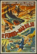 "Movie Posters:Documentary, Adventures in the Red Sea (RKO, 1951). Argentinean Poster (29"" X 43""). Documentary...."