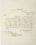 Autographs:Letters, 1875 Alexander Cartwright Handwritten Letter. In 1953 the UnitedStates Congress officially gave credit to Alexander Cartwr...