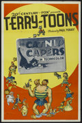 "Movie Posters:Animated, Terry-Toons Stock (20th Century Fox, 1940). One Sheet (27"" X 41"")""Catnip Capers."" Animated...."