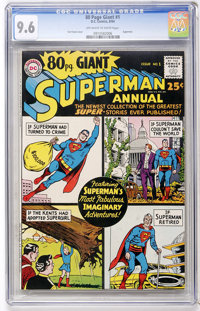 80 Page Giant #1 Superman Annual (DC, 1964) CGC NM+ 9.6 Off-white to white pages