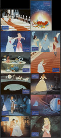 "Movie Posters:Animated, Cinderella (Warner Brothers, R-1970s). German Lobby Card Set of 12 (8.5"" X 11.5""). Animated.... (Total: 12 Items)"