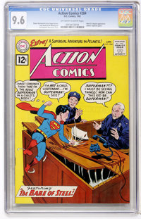 Action Comics #284 (DC, 1962) CGC NM+ 9.6 Off-white to white pages