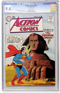 Action Comics #240 (DC, 1958) CGC NM 9.4 Off-white pages