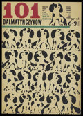 "Movie Posters:Animated, 101 Dalmatians (Buena Vista, 1961). Polish One Sheet (23"" X 32""). Animated...."