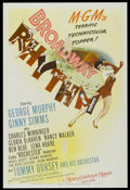 "Movie Posters:Musical, Broadway Rhythm (MGM, 1944). One Sheet (27"" X 41""). Musical...."