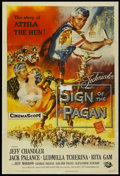 "Movie Posters:Adventure, Sign of the Pagan (Universal International, 1954). One Sheet (27"" X41""). Adventure...."