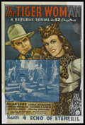 """Movie Posters:Serial, The Tiger Woman (Republic, 1944). One Sheet (27"""" X 41"""") Chapter 4 -- """"Echo of Eternity."""" Serial...."""