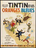 "Movie Posters:Adventure, Tintin and the Blue Oranges (Pathe Consurtium Cinema, 1964). FrenchGrande (47"" X 63""). Adventure...."