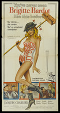 "Movie Posters:Comedy, Babette Goes to War (Columbia, 1960). Three Sheet (41"" X 81""). Comedy...."