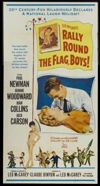 "Rally 'Round the Flag, Boys! (20th Century Fox, 1959). Three Sheet (41"" X 81""). Comedy"