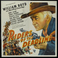 """Movie Posters:Western, Riders of the Deadline (United Artists, 1943). Six Sheet (81"""" X81""""). Western...."""