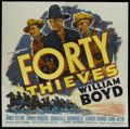 "Movie Posters:Western, Forty Thieves (United Artists, 1944). Six Sheet (81"" X 81""). Western...."