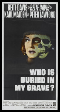 """Dead Ringer (Warner Brothers, 1964). Three Sheet (41"""" X 81""""). Also known as Who is Buried in My Grave? Thrille..."""