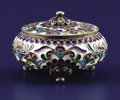 Silver Smalls:Other , A RUSSIAN SILVER AND CLOISONNÉ ENAMEL COVERED BOX.Unidentified maker, Moscow, Russia, circa 1890. Marks: AK,...