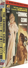 Books:Vintage Paperbacks, The Grinning Gizmo/Too Hot to Handle Ace Double Paperback #D1 (Ace,1952)....