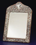 Silver Holloware, American:Mirrors and Vanity-related , AN AMERICAN SILVER OVERLAY VANITY MIRROR. Mauser Manufacturing Company, New York, New York, circa 1900. Marks: (unicorn wit...