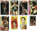Autographs:Sports Cards, 1970s Topps Basketball Hall of Famers SIgned Cards Group Lot of 8.A total of eight cards are presented here featuring Hall ...