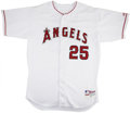 Baseball Collectibles:Uniforms, 2002 Troy Glaus Game Used Jersey. This Troy Glaus game worn jersey is from the 2002 season. This is the season Glaus hit 30...