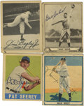 Autographs:Sports Cards, 1936-49 Signed Baseball Cards Group Lot of 15. Signing 1939 PlayBall cards are Preston Fletcher and James Bagby Jr. 1940 P...