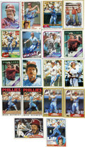 Autographs:Sports Cards, Group of Mike Schmidt Single Signed Topps Baseball Cards Lot of 18.Three time National League All-Star and a member of the...