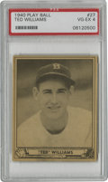 Baseball Cards:Singles (1940-1949), 1940 Play Ball Ted Williams #27 PSA VG-EX 4. Second-year card from the remarkable hitting talent Ted Williams presents here...