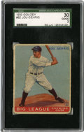 Baseball Cards:Singles (1930-1939), 1933 Goudey Lou Gehrig #92 SGC Good 30. One of two debut Gehrigcards that are featured from the 1933 Goudey baseball issue...