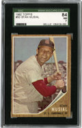 Baseball Cards:Singles (1960-1969), 1962 Topps Stan Musial #50 SGC NM 84. High-grade entry featuringStan the Man comes to us by way of Tops' popular 1962 base...