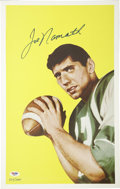 Football Collectibles:Others, Joe Namath Signed Rookie Card Art. Sweet limited-edition piece was created using the art featured for the 1965 Topps footba...