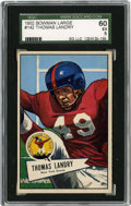Football Cards:Singles (1950-1959), 1952 Bowman Large Thomas Landry #142 SGC EX 60. A tremendous defensive back during his time with the New York Giants, Tom L...
