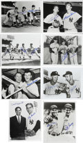 "Autographs:Photos, New York Yankees Signed Photographs Lot of 32. Thirty-two 8x10""black and white photographs are made available here, each e..."