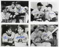 """Autographs:Photos, Baseball Stars Signed Photographs Lot of 33. Thirty-three 8x10""""group photos signed by Hall of Famers, baseball stars, and ..."""