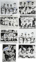 Autographs:Photos, Group of Signed Dodgers/Giants Signed Photographs Lot of 16. Agroup of 8x10 black and white photos signed by Dodgers and G...