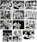 """Autographs:Photos, Vintage Baseball Stars Signed Photographs Lot of 35. Classicassortment of 8x10"""" black and white images features vintage ma..."""