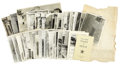 Miscellaneous:Maps, Archive Relating to the Diorama Projects of the Alamo and the TexasAnnexation Ceremony, ...