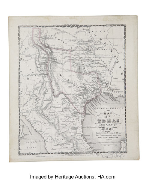 Map Of Texas Mexico.Ensign Map Of Texas And Part Of Mexico 1846 Miscellaneous