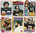Football Collectibles:Balls, Franco Harris Single Signed Topps Cards Lot of 6. Member of the Football Hall of Fame and probably the best running back to...
