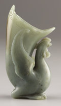 Asian:Chinese, PROPERTY FROM A DALLAS PRIVATE COLLECTION. A CHINESE JADE RHYTON.Qing Dynasty, 1644-1911. 5-1/8 inches (13.0 cm) high. ...