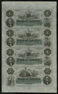Obsoletes By State:Rhode Island, Providence, RI- Bank of America $1-$1-$1-$2 Uncut Sheet G4a-G4a-G4a-G8a. This is a gorgeous remainder sheet that is widely m...