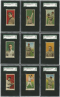 Baseball Cards:Lots, 1909-11 E90-1 American Caramel SGC-Graded Group Lot of 9. Ninevintage caramel cards from the E90-1 issue released between ...