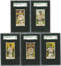 Baseball Cards:Lots, 1908-10 E91 SGC Poor 10 Group Lot of 5. Here we make five graded cards from the 1908-10 American Caramel issue available, a...