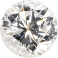 Estate Jewelry:Unmounted Diamonds, Unmounted Diamond. The round brilliant-cut diamond measures 6.27 -6.36 x 3.84 mm and weighs 0.93 carat. An AGS Laboratory...