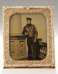 Photography:Ambrotypes, Sixth Plate Ambrotype of Union Seaman....