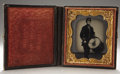 Photography:Ambrotypes, Cased Sixth Plate Ambrotype of Union Drummer....