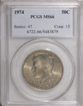 Kennedy Half Dollars: , 1974 50C MS66 PCGS. PCGS Population (104/10). NGC Census: (24/3).Mintage: 201,596,000. Numismedia Wsl. Price for NGC/PCGS ...