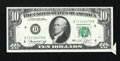 Error Notes:Attached Tabs, Fr. 2022-D $10 1974 Federal Reserve Note. Extremely Fine-AboutUncirculated.. ...