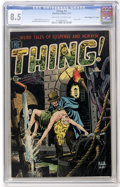 "Golden Age (1938-1955):Horror, The Thing! #9 Davis Crippen (""D"" Copy) pedigree (Charlton, 1953) CGC VF+ 8.5 Off-white to white pages...."