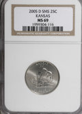 Statehood Quarters, 2005-D 25C Kansas Satin MS69 NGC. NGC Census: (0/0). PCGSPopulation (0/0). (#14041)...