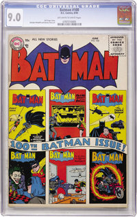 Batman #100 (DC, 1956) CGC VF/NM 9.0 Off-white to white pages
